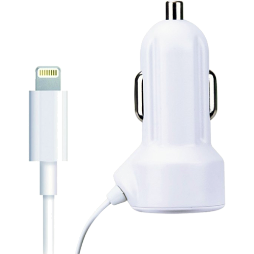 Car Charger for Apple Lightning 2.1A White - Foto 1