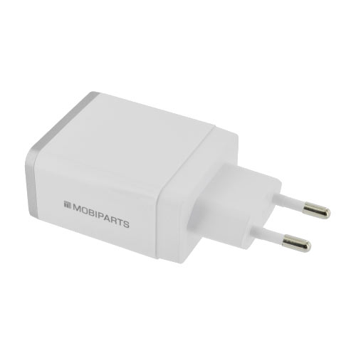 Wall Charger Dual USB 4.8A + Lightning Cable White - Foto 2