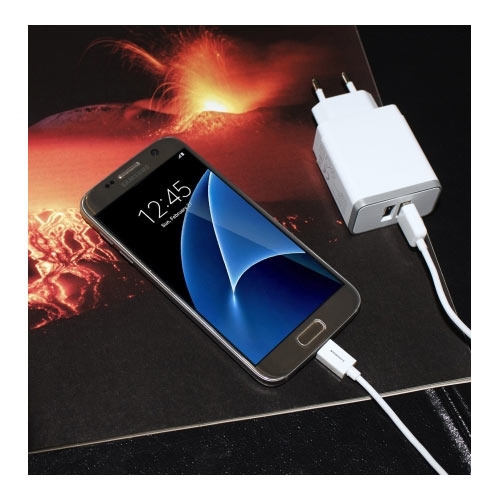 Wall Charger Dual USB 4.8A + Lightning Cable White - Foto 4