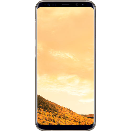 Galaxy S8 Plus Clear Cover Gold - Foto 2