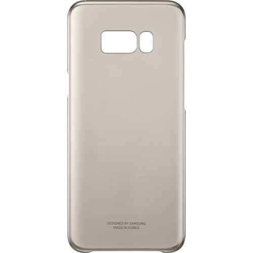 Galaxy S8 Plus Clear Cover Gold - Foto 4