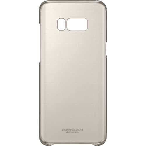 Galaxy S8 Plus Clear Cover Gold - Foto 5
