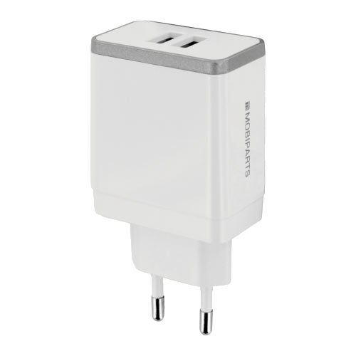 Wall Charger Dual USB 2.4A White - Foto 1