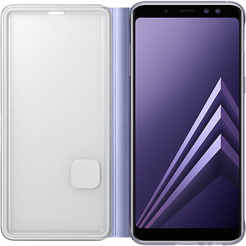 Galaxy A8 (2018) Neon Flip Cover Orchid Gray - Foto 3
