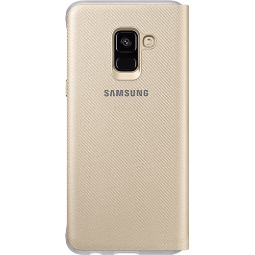 Galaxy A8 (2018) Neon Flip Cover Gold - Foto 2