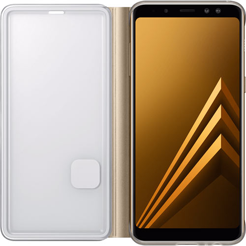 Galaxy A8 (2018) Neon Flip Cover Gold - Foto 3