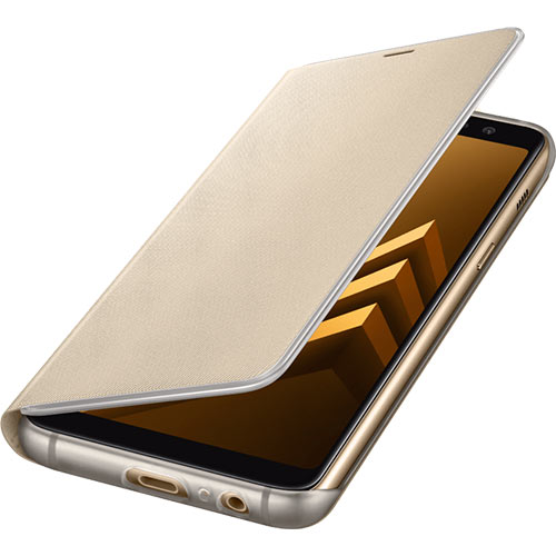 Galaxy A8 (2018) Neon Flip Cover Gold - Foto 4