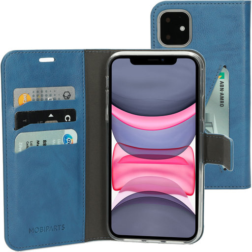 Mobiparts Classic Wallet Case Apple iPhone 11 Steel Blue