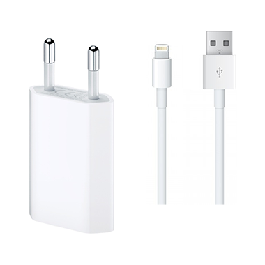 Apple Laderadapter MD813ZM/A + Lightning USB kabel