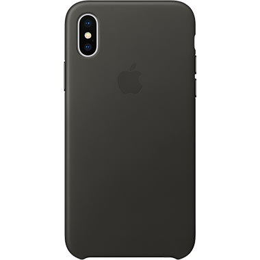 Apple iPhone X Leather Case Charcoal Gray
