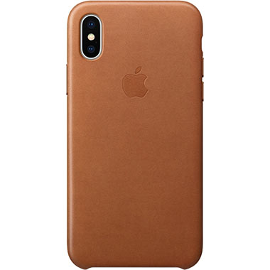 Apple iPhone X/XS Leather Case Saddle Brown MQTA2ZM/A