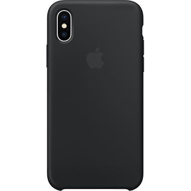 Apple iPhone X Silicone Case Black