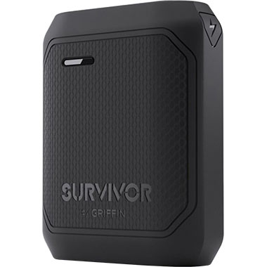 Griffin Survivor Rugged Power Bank Battery 10.050mAh Black