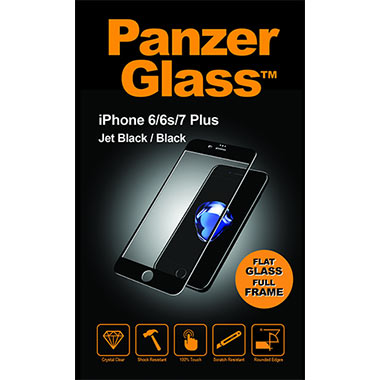 PanzerGlass Screenprotector Apple iPhone 6/6s/7/8 Plus - Jet Black/Black