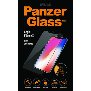 PanzerGlass Screenprotector Apple iPhone X - Black Case Friendly