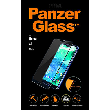 PanzerGlass Screenprotector Nokia 7.1 Black