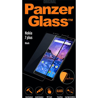 PanzerGlass Screenprotector Nokia 7 Plus Black