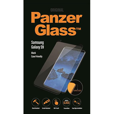 PanzerGlass Screenprotector Samsung Galaxy S9 - Black Case Friendly