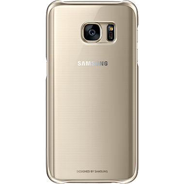Samsung Galaxy S7 Clear Cover Gold