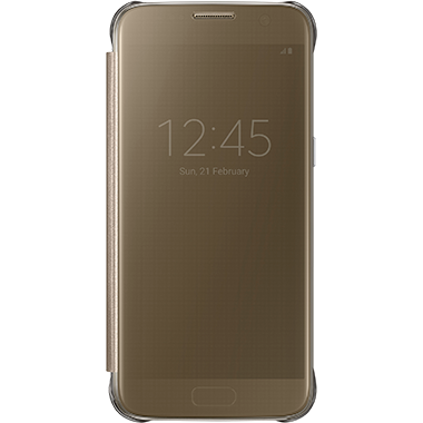 Samsung Galaxy S7 Clear View Cover Gold