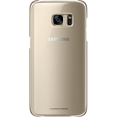 Samsung Galaxy S7 Edge Clear Cover Gold