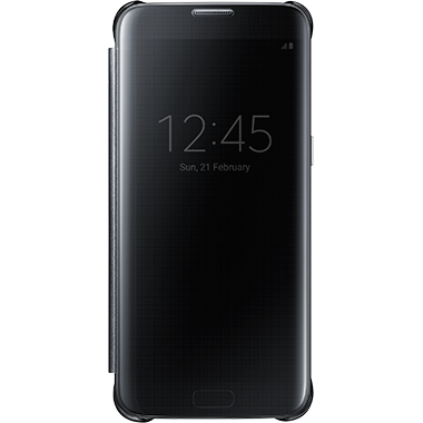 Samsung Galaxy S7 Edge Clear View Cover Black