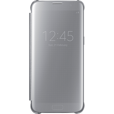 Samsung Galaxy S7 Edge Clear View Cover Silver