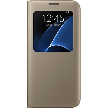 Samsung Galaxy S7 Edge S-View Cover Gold