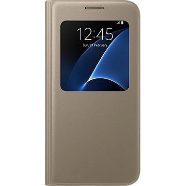 Samsung Galaxy S7 S-View Cover Gold