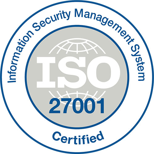 ISO 27001 Certified - Information Security Management System